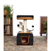 Prevue Hendryx 29'' Kitty Power Paws Tiger Hideaway Cat Tree