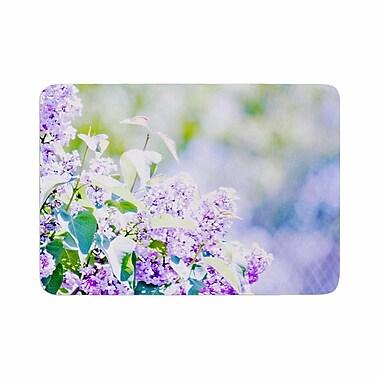 East Urban Home Sylvia Coomes Hazy Flowers Memory Foam Bath Rug; 0.5'' H x 17'' W x 24'' D