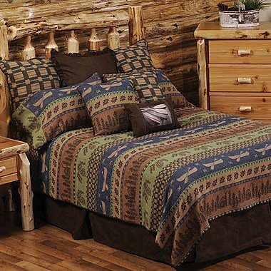 Wooded River Lake Shore 7 Piece Coverlet Set; Super King