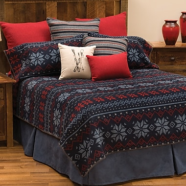 Wooded River Nordic 4 Piece Coverlet Set; Twin
