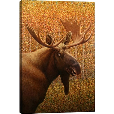 iCanvas 'Moose' Graphic Art Print on Canvas; 40'' H x 26'' W x 0.75'' D