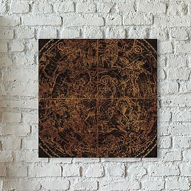 iCanvas 'Northern Celestial Sphere' Graphic Art Print on Canvas; 37'' H x 37'' W x 1.5'' D
