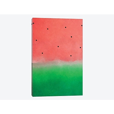 East Urban Home 'Watermelon Washout' Painting Print on Canvas; 26'' H x 18'' W x 1.5'' D