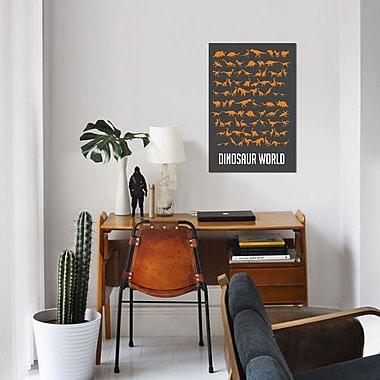 East Urban Home 'Dinosaur World II' Graphic Art Print on Canvas; 60'' H x 40'' W x 1.5'' D