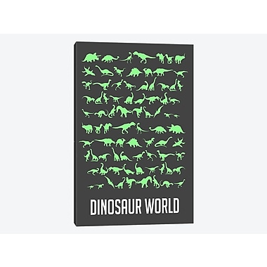 East Urban Home 'Dinosaur World III' Graphic Art Print on Canvas; 18'' H x 12'' W x 0.75'' D