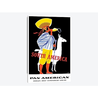 East Urban Home 'South America - Pan American' Vintage Advertisement on Canvas