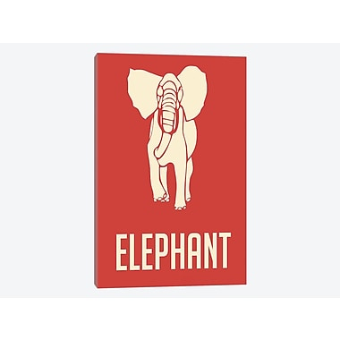 East Urban Home 'Elephant I' Graphic Art Print on Canvas; 40'' H x 26'' W x 0.75'' D
