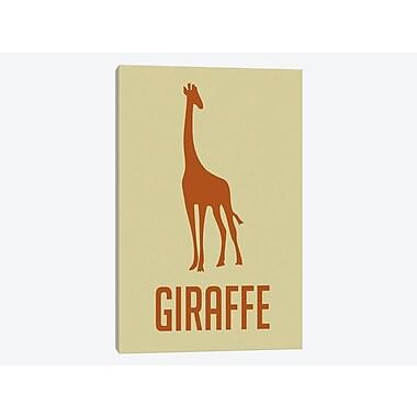 East Urban Home 'Giraffe I' Graphic Art Print on Canvas; 18'' H x 12'' W x 1.5'' D