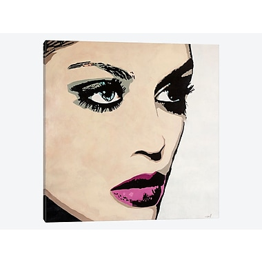East Urban Home 'On Fleek' Graphic Art Print on Canvas; 12'' H x 12'' W x 0.75'' D