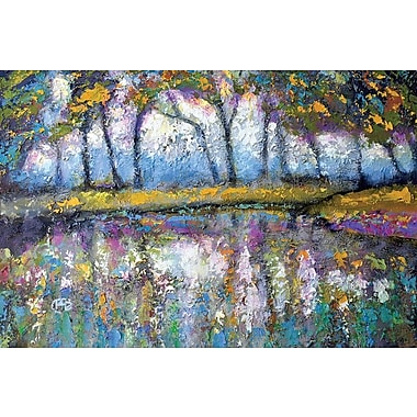 East Urban Home 'Pond Color' Painting Print on Canvas; 26'' H x 40'' W x 1.5'' D