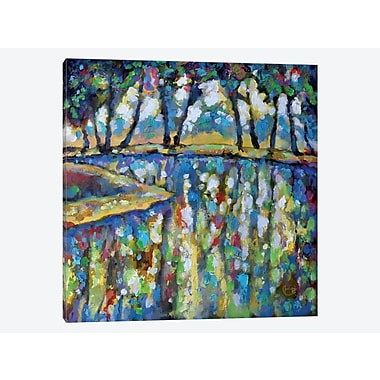 East Urban Home 'Pond in July' Painting Print on Canvas; 18'' H x 18'' W x 1.5'' D