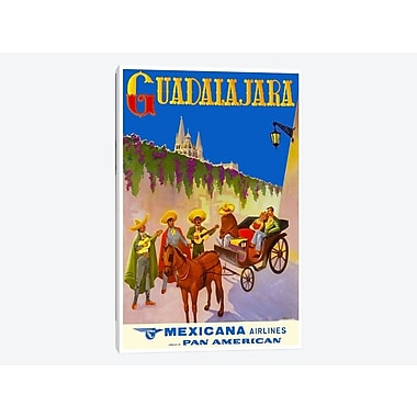 East Urban Home 'Guadalajara - Mexicana Airlines' Vintage Advertisement on Canvas