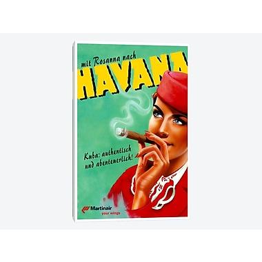 East Urban Home 'Havana - Martinair' Vintage Advertisement on Canvas; 40'' H x 26'' W x 0.75'' D