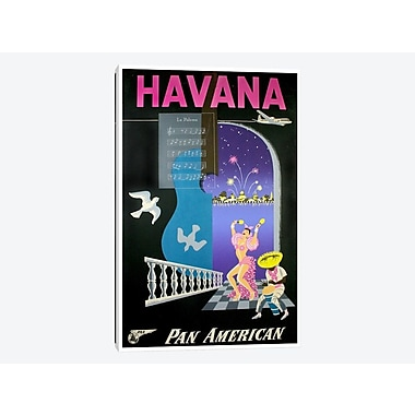 East Urban Home 'Havana - Pan American' Vintage Advertisement on Canvas; 26'' H x 18'' W x 0.75'' D