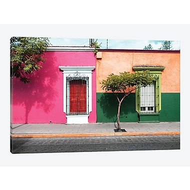 East Urban Home ' Viva Mexico! Series: Mexican Colorful Facades' Photographic Print on Canvas