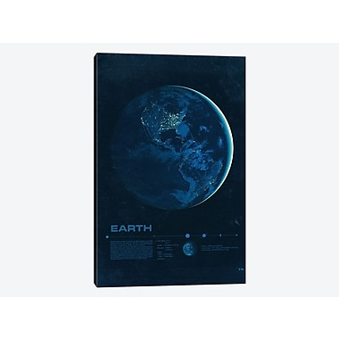 East Urban Home 'Our Solar System: Earth' Graphic Art Print on Canvas; 18'' H x 12'' W x 1.5'' D