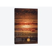 East Urban Home 'Our Solar System: Jupiter' Graphic Art Print on Canvas; 18'' H x 12'' W x 0.75'' D