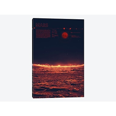East Urban Home 'Our Solar System: Mars' Graphic Art Print on Canvas; 18'' H x 12'' W x 0.75'' D