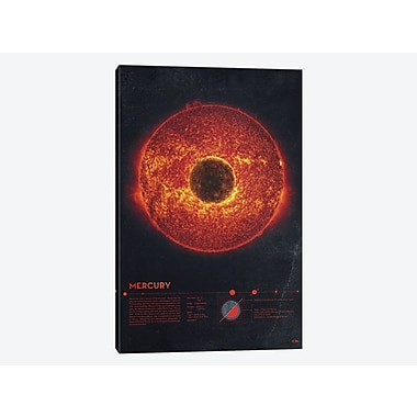 East Urban Home 'Our Solar System: Mercury' Graphic Art Print on Canvas; 18'' H x 12'' W x 0.75'' D