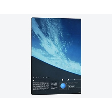 East Urban Home 'Our Solar System: Neptune' Graphic Art Print on Canvas; 40'' H x 26'' W x 0.75'' D