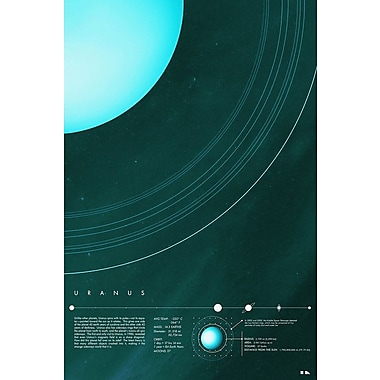 East Urban Home 'Our Solar System: Uranus' Graphic Art Print on Canvas; 26'' H x 18'' W x 1.5'' D