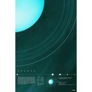East Urban Home 'Our Solar System: Uranus' Graphic Art Print on Canvas; 40'' H x 26'' W x 0.75'' D