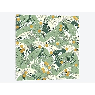 East Urban Home 'Palm Gold' Graphic Art Print on Canvas; 12'' H x 12'' W x 1.5'' D