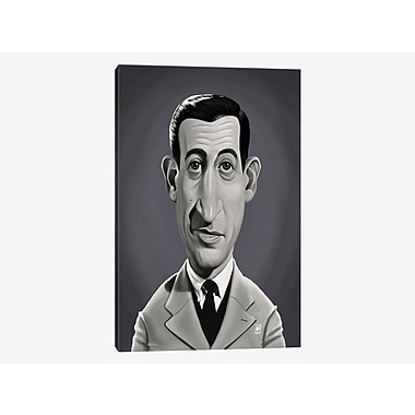 East Urban Home 'Vintage Celebrity Sunday Series: J.D. Salinger ' Graphic Art Print on Canvas