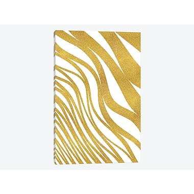 East Urban Home 'Golden Wave' Graphic Art Print on Canvas; 12'' H x 8'' W x 0.75'' D