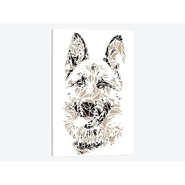 East Urban Home 'German Shepherd' Graphic Art Print on Canvas; 26'' H x 18'' W x 1.5'' D