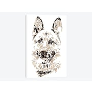 East Urban Home 'German Shepherd' Graphic Art Print on Canvas; 40'' H x 26'' W x 0.75'' D