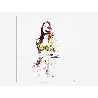 East Urban Home 'Angelina Jolie III' Graphic Art Print on Canvas; 18'' H x 18'' W x 1.5'' D
