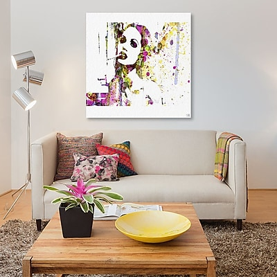East Urban Home 'Angelina Jolie IV' Graphic Art Print on Canvas; 26'' H x 26'' W x 0.75'' D