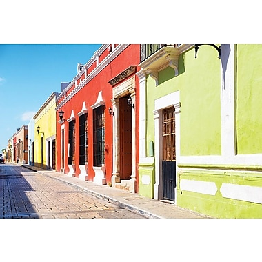East Urban Home ' Viva Mexico! Series: Color Street' Photographic Print on Canvas
