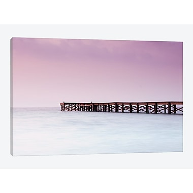 East Urban Home 'Pink Pier' Graphic Art Print on Canvas; 40'' H x 60'' W x 1.5'' D