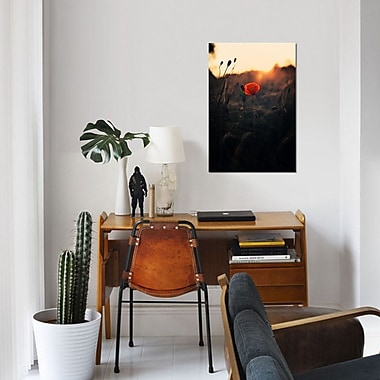 East Urban Home 'Poppy' Photographic Print on Canvas; 18'' H x 12'' W x 0.75'' D