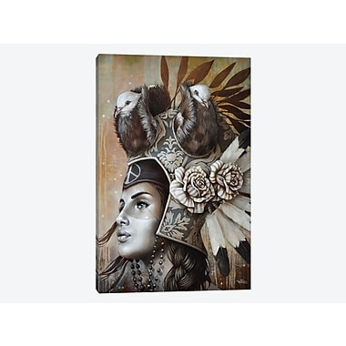East Urban Home 'Guerri re Pacifique (Peaceful Warrior)' Graphic Art Print on Canvas