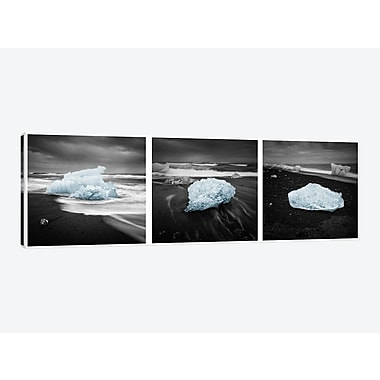 East Urban Home 'Icelandic Ice' Graphic Art Print on Canvas; 16'' H x 48'' W x 0.75'' D