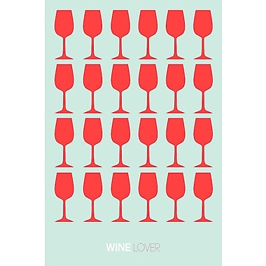 East Urban Home 'Wine Lover III' Graphic Art Print on Canvas; 60'' H x 40'' W x 1.5'' D