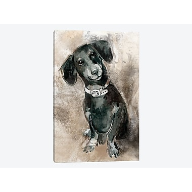 East Urban Home 'Sketchy Study: Dachsund' Painting Print on Canvas; 26'' H x 18'' W x 0.75'' D