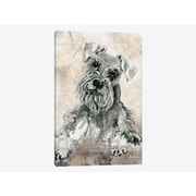 East Urban Home 'Sketchy Study: Schnauzer' Painting Print on Canvas; 12'' H x 8'' W x 0.75'' D