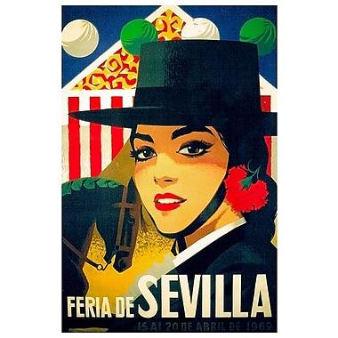 East Urban Home 'Feria de Sevilla, 15-20 de Abril de 1969' Vintage Advertisement on Canvas