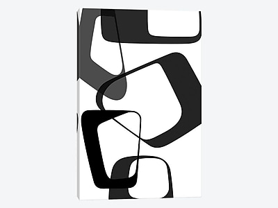 East Urban Home 'Abstract Rings II' Graphic Art Print on Canvas; 26'' H x 18'' W x 0.75'' D