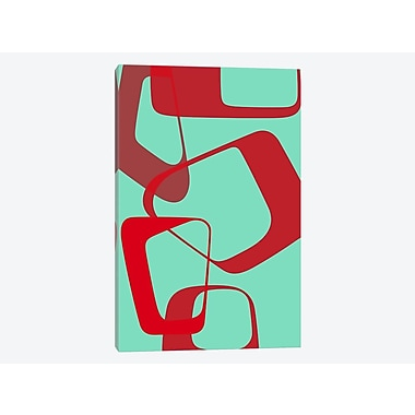 East Urban Home 'Abstract Rings IV' Graphic Art Print on Canvas; 12'' H x 8'' W x 0.75'' D