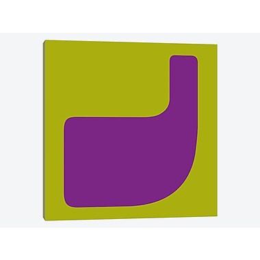 East Urban Home 'J, Hippie Alphabet Series' Graphic Art Print on Canvas; 12'' H x 12'' W x 1.5'' D