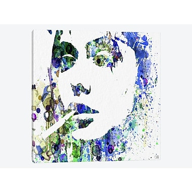 East Urban Home 'Angelina Jolie I' Graphic Art Print on Canvas; 18'' H x 18'' W x 0.75'' D