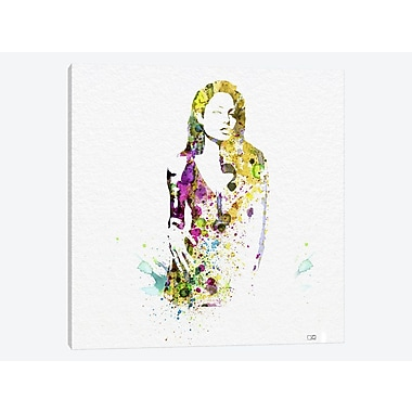 East Urban Home 'Angelina Jolie II' Graphic Art Print on Canvas; 12'' H x 12'' W x 1.5'' D