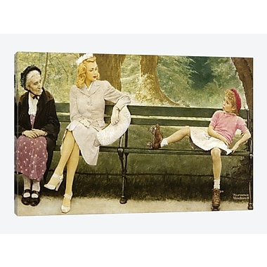 East Urban Home 'The Meeting (Full)' by Norman Rockwell Graphic Art Print on Canvas