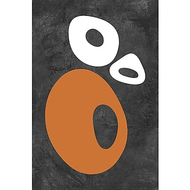 East Urban Home 'Abstract Oval Shapes I' Graphic Art Print on Canvas; 26'' H x 18'' W x 1.5'' D