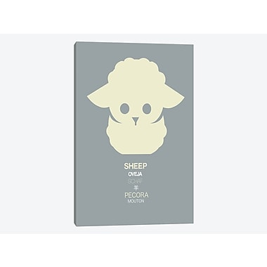 East Urban Home 'Multilingual Sheep' Graphic Art Print on Canvas; 60'' H x 40'' W x 1.5'' D